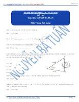 đề thi đánh giá năng lực tư duy định lượng số 5