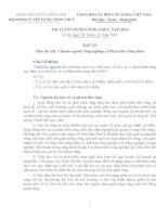 đề và đáp án thi công chức, viên chức ở tỉnh thức thiên Huế năm 2013