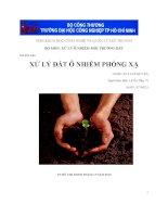 Bài tiểu luận xử lý đất ô nhiễm phóng xạ