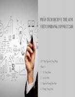 Thuyết trình môn marketing dịch vụ phân tích dịch vụ thẻ ATM vietcombank connect 24h