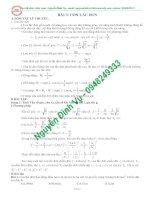 Phân loại và phương pháp giải các dạng bài tập Con lắc đơn ( rất hay)