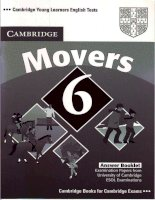 Tests movers 6 key
