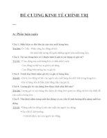 ĐỀ CƯƠNG KINH tế CHÍNH TRỊ hoàn chỉnh