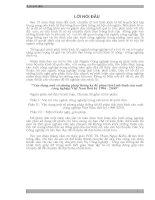 Vận Dụng Một Số Phương Pháp Thống Kê Để Phân Tích Tình Hình Sản Xuất Công Nghiệp Việt Nam Thời Kỳ 1996 - 2000