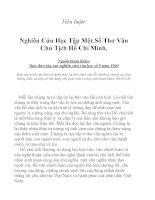tiểu luận: Nghiên cứu và học tập phong cách thơ văn HỒ CHỦ TỊCH