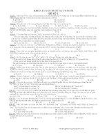 Bộ 10 đề 8 điểm Hóa Học  ôn thi THPT quốc gia