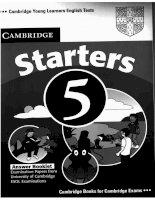 Tests starters 5 key
