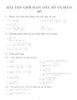 Bài tập giới hạn dãy số và hàm số