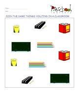 Classroom, park and ground flashcards