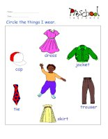 clothers flashcards for learning english