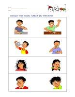 Good habits flashcards for learning english