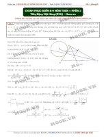 Đề tuyển chọn HPT, PT, Tính chất hình học phẳng