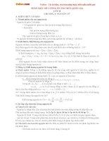 Đề cương ôn thi THPT Quốc gia môn Hóa học