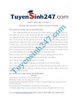 một số đề đọc hiểu môn ngữ văn có đáp án của tuyensinh247