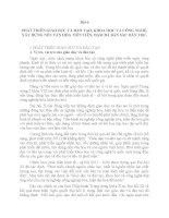 PHÁT TRIỂN GIÁO DỤC VÀ ĐÀO TẠO, KHOA HỌC VÀ CÔNG NGHỆ, XÂY DỰNG NỀN VĂN HÓA TIÊN TIẾN, ĐẬM ĐÀ BẢN SẮC DÂN TỘC.