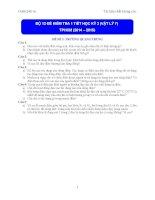 bộ 12 đề kiểm tra 1 tiết học kì 2 vật lí 7