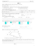 30 đề toán lớp 2 học kì 2