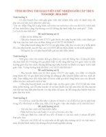30TÌNH HUỐNG THI GIÁO VIÊN CHỦ NHIỆM GIỎI CẤP THCS NĂM HỌC 20142015