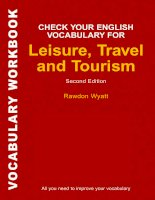 Check your english vocabulary for leisure,travel and tourism