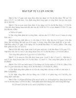 Bài tập Hóa 11: Các dạng bài luyện tập về Ancol