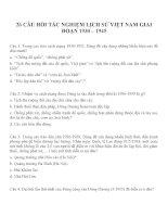 26 câu hỏi trắc nghiệm Lịch sử Việt Nam giai đoạn 1930  1945 Lịch sử 12