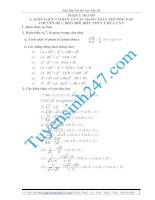Các kiến thức tổng hợp ôn thi vào lớp 10