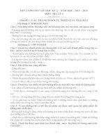 ĐỀ CƯƠNG ÔN TẬP MÔN ĐỊA LÝ KHỐI 6 HỌC KỲ II HAY