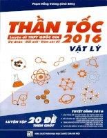 Thần tốc luyện đề THPT quốc gia 2016 môn vật lý tập 1