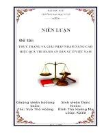 THỰC TRẠNG và GIẢI PHÁP NHẦM NÂNG CAO HIỆU QUẢ THI HÀNH án dân sự ở VIỆT NAM