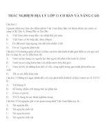 Câu hỏi trắc nghiệm Địa lý lớp 11