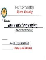 Slide bài giảng QUAN HỆ CÔNG CHÚNG