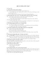 ĐỀ CƯƠNG ÔN TẬP MÔN ÔNG NGHỆ 8 HỌC KỲ II
