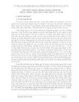 SKKN: TỔ CHỨC HOẠT ĐỘNG NGOÀI TRỜI ĐỂ PHÁT TRIỂN THỂ CHẤT CHO TRẺ 5 – 6 TUỔI