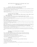 ĐỀ CƯƠNG MÔN ĐỊA LÝ 8 HỌC KỲ II