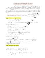 các phương pháp tư duy để giải quyết thành công hệ phương trình trong đề thi đại học