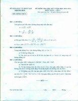 Đề và đáp án KT HK I Toán 9 năm học 2013 -1024 của Khánh Hòa