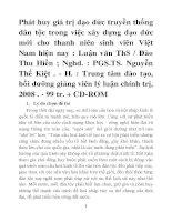 Phát huy giá trị đạo đức truyền thống dân tộc trong việc xây dựng đạo đức mới cho thanh niên sinh viên Việt Nam hiện nay