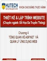 Bài giảng thiết kế và lập trình website  chương 4   tổng quan về ASP