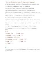 E VÀO 10 - CHUYÊN ĐỀ SỬA LỖI ( CORRECT MISTAKES ) + KEYS