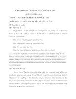 BÁO cáo THUYẾT MINH kế HOẠCH sử DỤNG đất GIAI đoạn 2011 2015