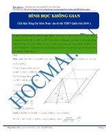 Tổng hợp bài tập hình học không gian lớp 11_hocmai_ ôn thi đại học