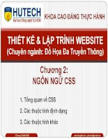 Bài giảng thiết kế và lập trình website  chương 2   tổng quan về CSS, các thuộc tính định dạng, các thuộc tính khác