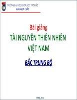 Tài nguyên thiên nhiên Việt Nam_Bắc Trung Bộ