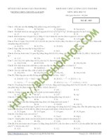 Đề thi thử môn hóa  thpt chuyên Lam SơnThanh Hóa
