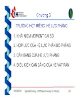 Bài giảng cơ lý thuyết   chương 3  trường hợp riêng   hệ lực phẳng