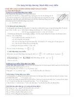 Luyện thi THPT quốc gia môn vật lý các dạng bài tập mạch điện xoay chiều