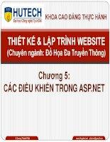 Bài giảng thiết kế và lập trình website  chương 5   các điều khiển trong ASP