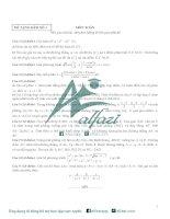 Bộ đề thi thử toán THPT 2016 (có đáp án) 7 đề