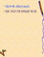Bài đọc thêm 3. Học Toán với Toolkit Math