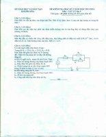 Đề và đáp án KT HK I Lí 9 năm học 2013 -1024 của Khánh Hòa